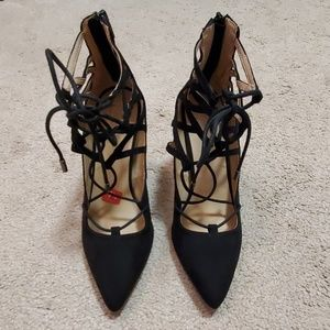 NWOT Material Girl lace up heels size 7 1/2